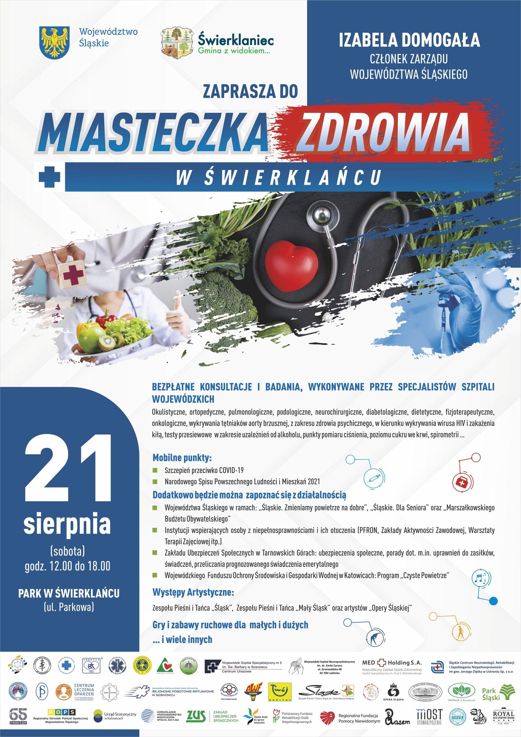 Plakat Miasteczko Zdrowia wŚwierklańcu